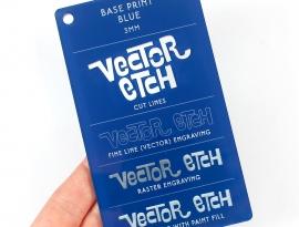 Blue Base Print Acrylic Sample