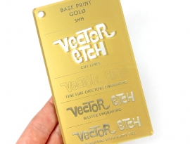 Gold Base Print Acrylic Sample