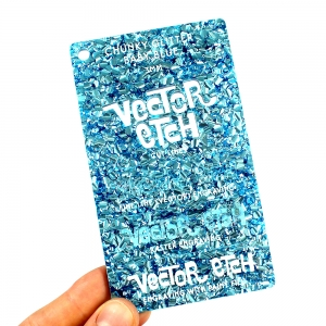 Baby Blue Chunky Glitter Acrylic