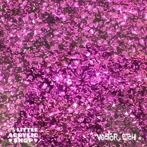 Berry Pink Chunky Glitter Acrylic