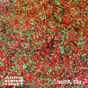 Xmas Chunky Glitter Acrylic