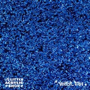Cobalt Blue Chunky Glitter Acrylic
