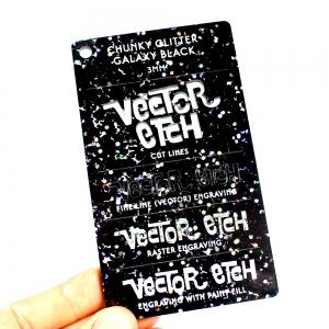 Galaxy Black Chunky Glitter Acrylic