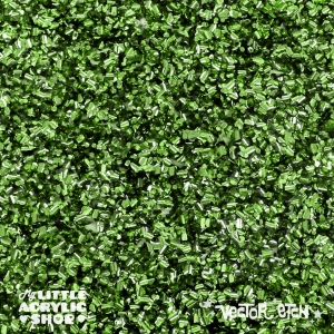 Green Chunky Glitter Acrylic