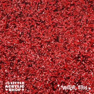 Red Chunky Glitter Acrylic