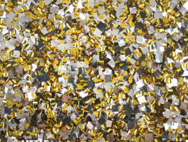 Yellow Gold and Silver Chunky Glitter Acrylic