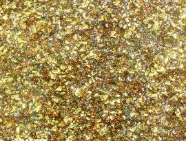 Gold Rainbow Chunky Glitter Acrylic