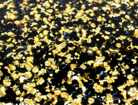 Gold and Black Chunky Glitter Acrylic