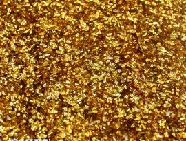 Yellow Gold Chunky Glitter Acrylic