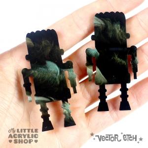 Crocodile Glimmer Acrylic Sample Back