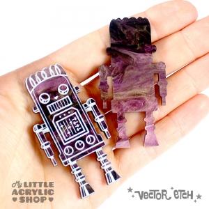Goth Fuchsia Glimmer Acrylic Sample