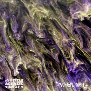 Goth Purple Glimmer Acrylic Close Up