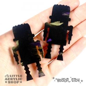 Goth Purple Glimmer Acrylic Sample Back