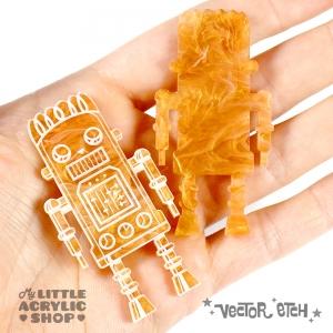Honeycomb Glimmer Acrylic Sample