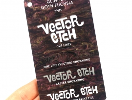 Goth Fuchsia Glimmer Acrylic Sample Front