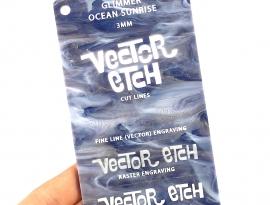 Ocean Sunrise Glimmer Acrylic Sample Front