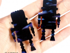 Blueberry Glimmer Acrylic Sample Back