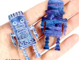 Blueberry Glimmer Acrylic Sample