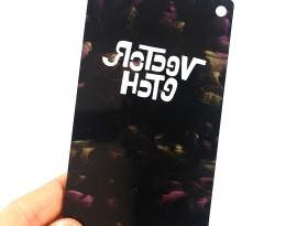 Goth Fuchsia Glimmer Acrylic Sample Back