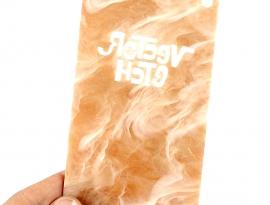 Honeycomb Glimmer Acrylic Sample Back