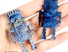 Oil Blue Glimmer Acrylic Sample