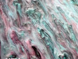 Pastel Goth Glimmer Acrylic Close Up