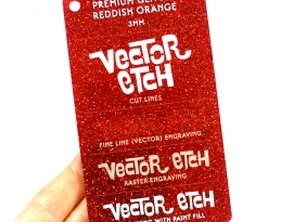 Reddish Orange Premium Glitter
