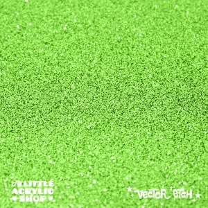 Apple Green Glitter Single Sided Acrylic