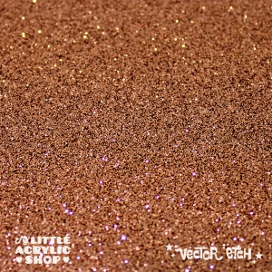 Copper Glitter Single Sided Acrylic