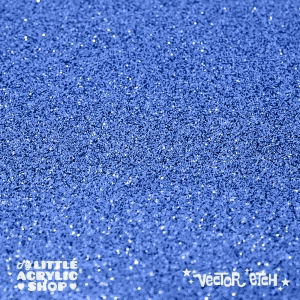 Dark Blue Glitter Single Sided Acrylic