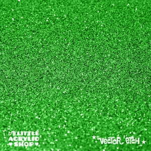 Grass Green Glitter Single Sided Acrylic