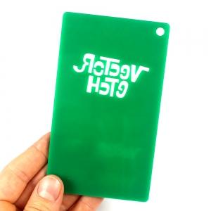 Green Glitter Single Sided Acrylic Back