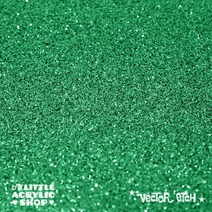 Green Glitter Single Sided Acrylic