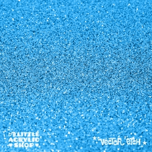 Light Blue Glitter Single Sided Acrylic