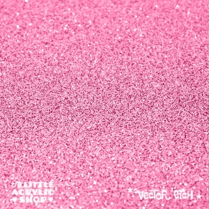 Light Pink Glitter Single Sided Acrylic