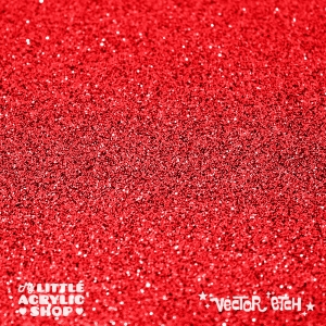 Red Glitter Single Sided Acrylic
