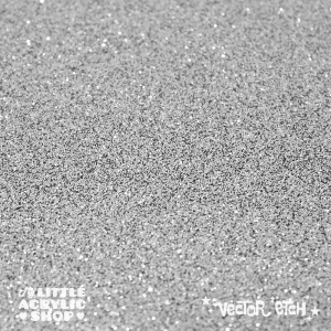 Silver Grey Glitter Single Sided Acrylic