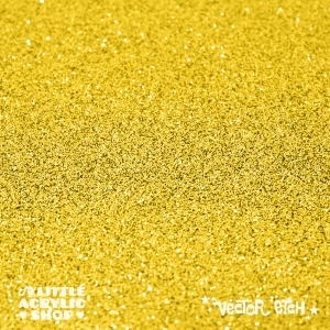 Yellow Glitter Single Sided Acrylic