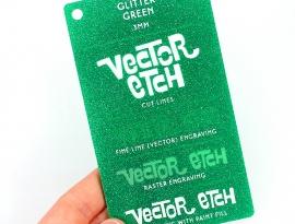 Green Glitter Single Sided Acrylic