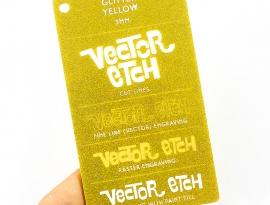Yellow Glitter Single Sided Acrylic
