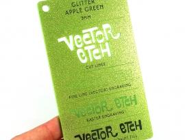 Apple Green Glitter Single Sided Acrylic