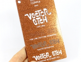 Copper Glitter Single Sided Acrylic