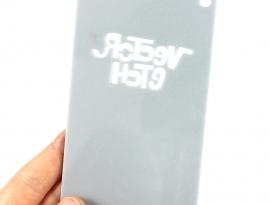 Silver Grey Glitter Single Sided Acrylic Back