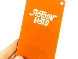 Orange Glitter Single Sided Acrylic Back