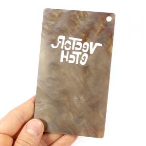 Dark Brown Marble Acrylic Sample Back