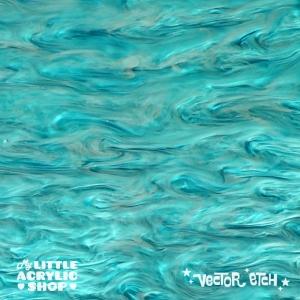 Ocean Blue Marble Acrylic