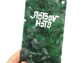 Green Mineral Sample Back