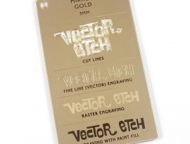 Gold Mirror Acrylic Sample