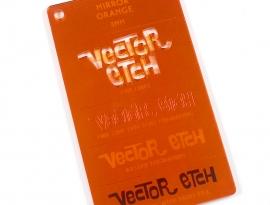 Orange Mirror Acrylic Sample