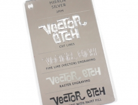 Silver Mirror Acrylic 2mm Sample